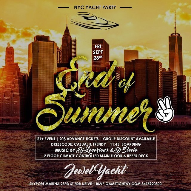 NYC Yacht Party End of Summer